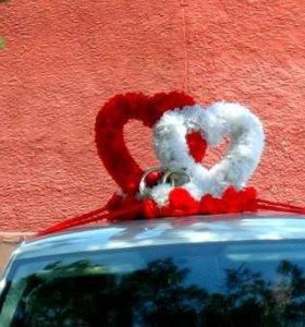 Украшение для свадебной машины