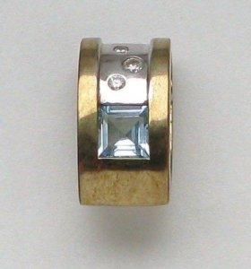 Подвеска кулон топаз фианиты золото 333проба