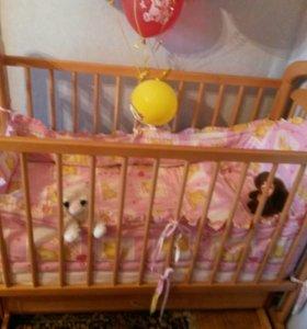 Кровать детская полный комплект.В хорошем состояни