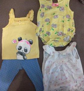Вещи на малышку 0-3 месяца