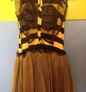 Платье новогоднее пчелка