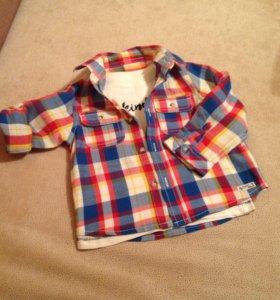 Комплект рубашка и футболка Mothercare