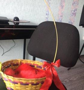 Корзинка декор или для котенка лежанка Hand made