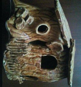 Суша / островок керамический для черепах и лягушек