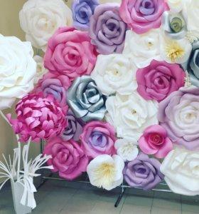 Оформление праздников. Огромные цветы и фотозоны.