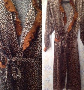 Новый классный леопардовый халатик