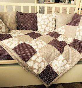 Бортики в кроватку, Кокон, Одеяло, Постельное ...