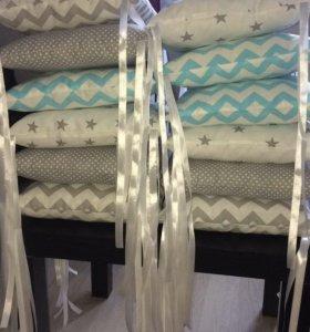 Бортики в кроватку ! Комплект 12 подушек