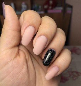 Снятие нарощенных ногтей (гель), с маникюром