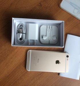 iPhone 6 , 64gb , gold