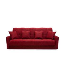 """Диван-кровать """"Комфорт"""" красный"""