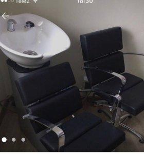 Кресло парикмахера+мойка