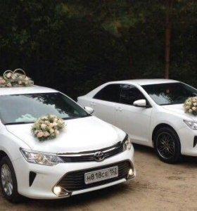 Аренда тойота Камри с водителем на свадьбу
