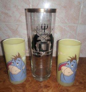 Набор кружка и два стакана.