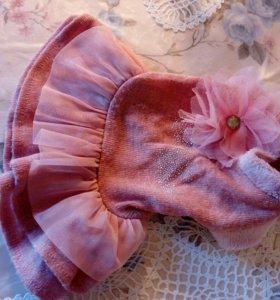 Вязаные платья и комбинезон для собак