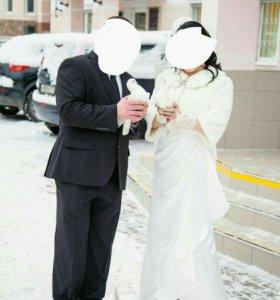 Свадебное платье с шубкой г.Родники