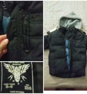 Демисезонная куртка на мальчика размер 104
