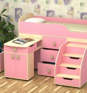 Кровать С матрасом Фея