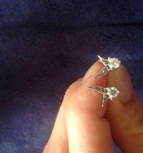 Новые серьги серебро