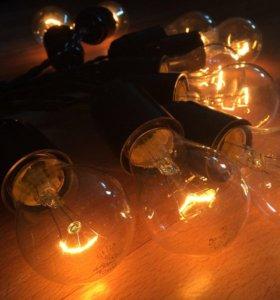 Ретро гирлянда на 25 лампочек