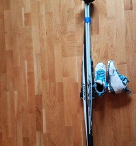 Лыжи(Р-170), палки(Р-120), ботинки (Р-38)