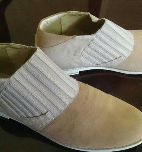 Новые туфли 40 размер нат.замша