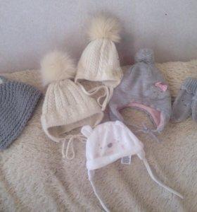 Шапки, снуд, шарф, варежки