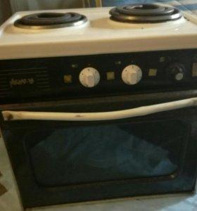 Двухкомфорочная плита с духовкой