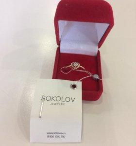Золотое кольцо Соколов. 16 размер. + Коробочка