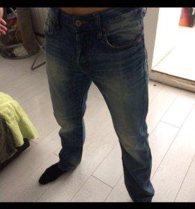 Стильные синие джинсы RAW от G-Star