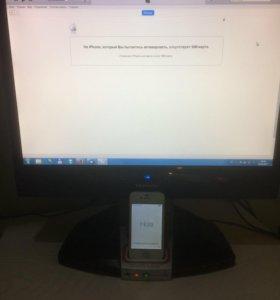 iPhone 4 + монитор + док-станция