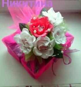 Цветы с конфетами😍