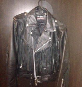 Кожаная куртка с бахромой (косуха)