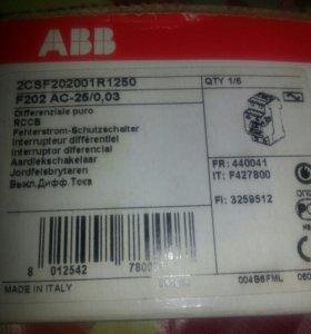 УЗО АВВ F202 AC-25/0,03
