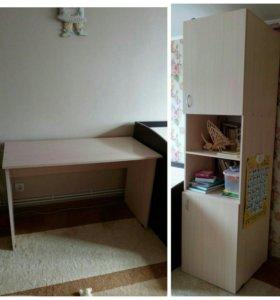 Продам стол+шкаф 60/60/220 в отличном состоянии