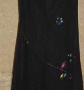 Шифоновое платье+ шарфик, р.44