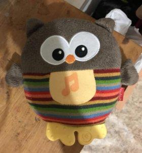 Игрушка ночник сова от Fisher-price