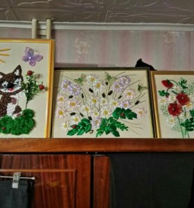 Картины из лент