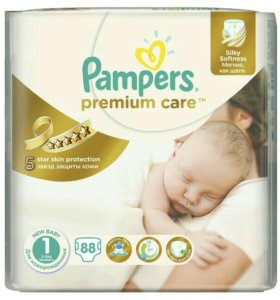 Pampers premium care 2-5 кг 63 шт
