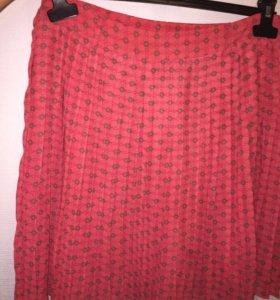 Шифоновая плиссерованная юбка