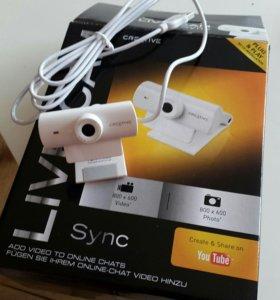 Очень удобная Вебка Creative Live Cam Sync
