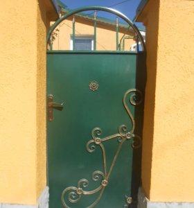 Калитки, двери, ворота, ограждения