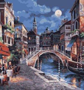 Картина Раскраска по номерам Ночь в Венеции