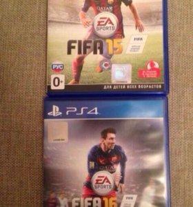 Игры FIFA 15 и FIFA 16 для PS 4