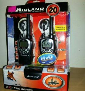 Рации. Midland GXT-1000. Новые 2 раз пользовался.