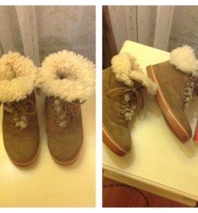 Натуральные зимние ботинки (р-36.5)