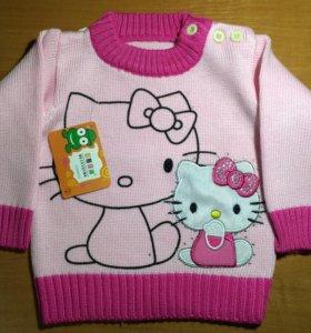 Новый свитер для девочки 10-12 мес.