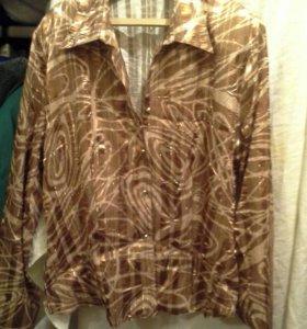 Блузка полупрозрачная, качественная 40-42р