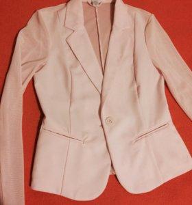 Пиджак новый розовый кардиган