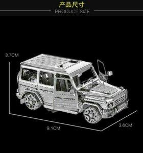 Сборная металлическая 3D модель-Джип